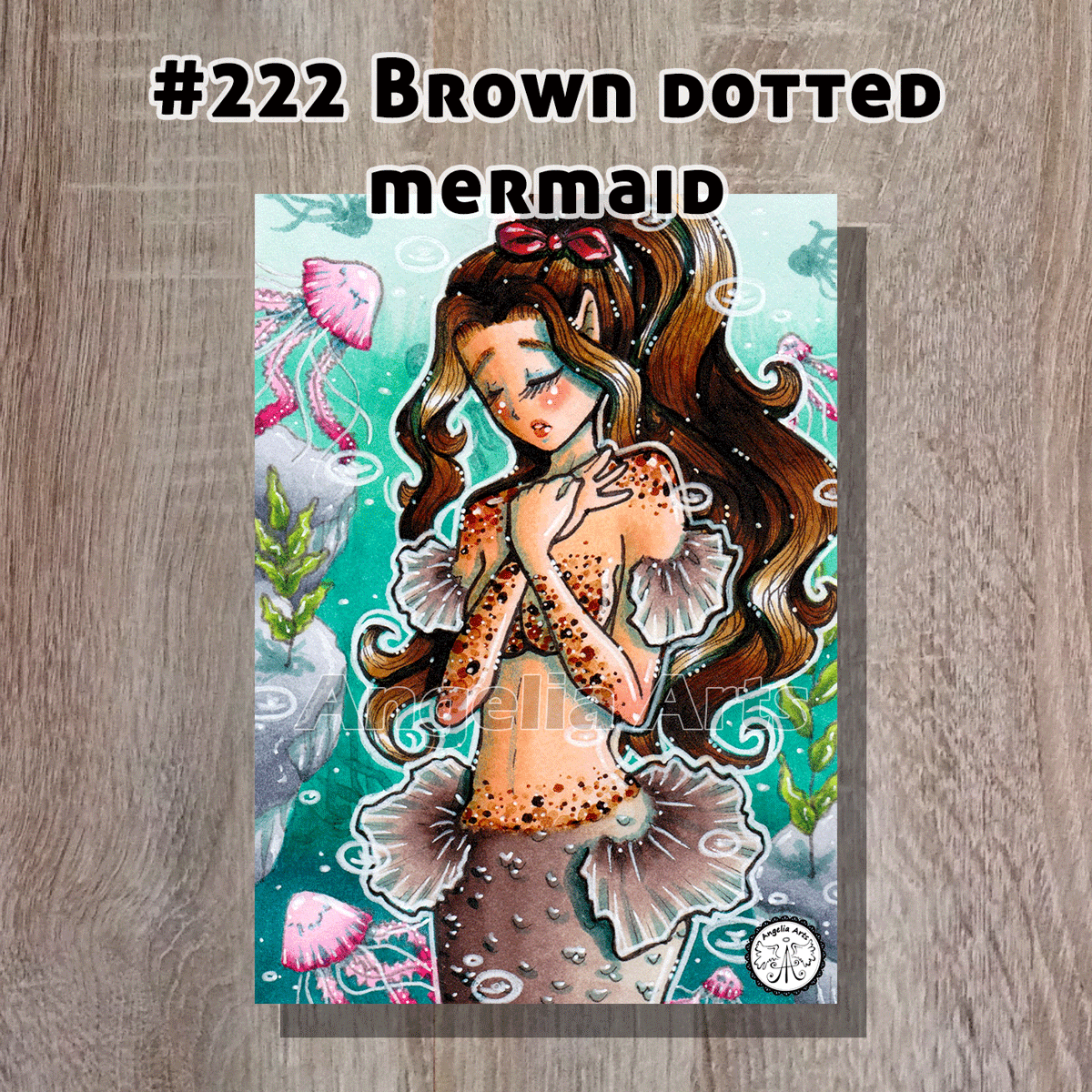 #222-Brown-dotted-mermaid-front