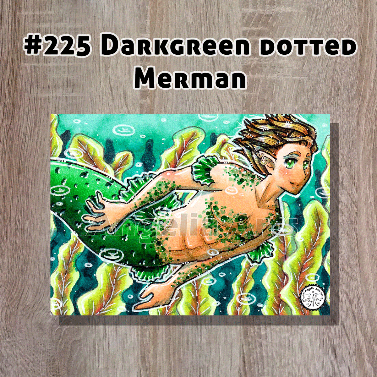 #225-Darkgreen-dotted.merman-front