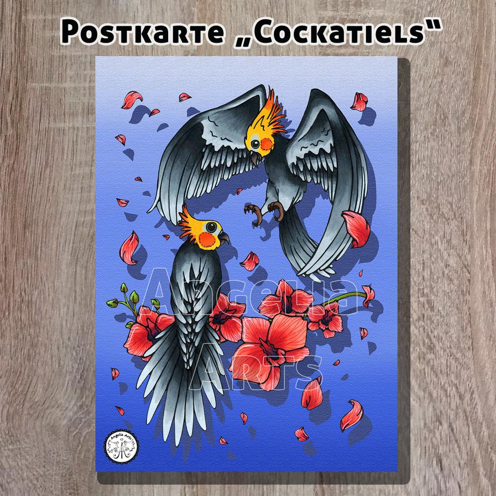 Postkarte_Cockatiel_1