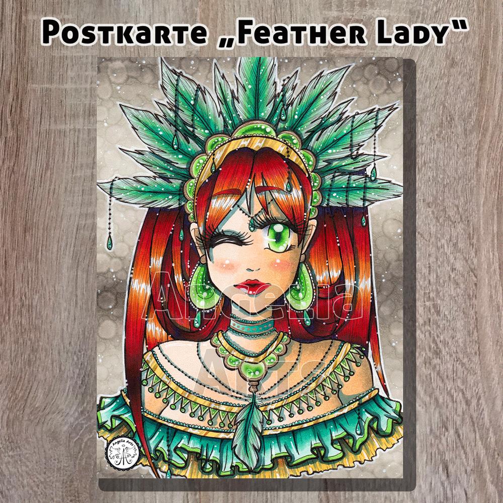 Postkarte_FeatherLady_1