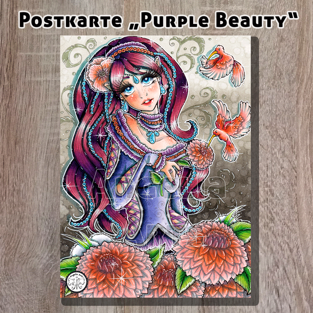 Postkarte_PurpleBeauty_1