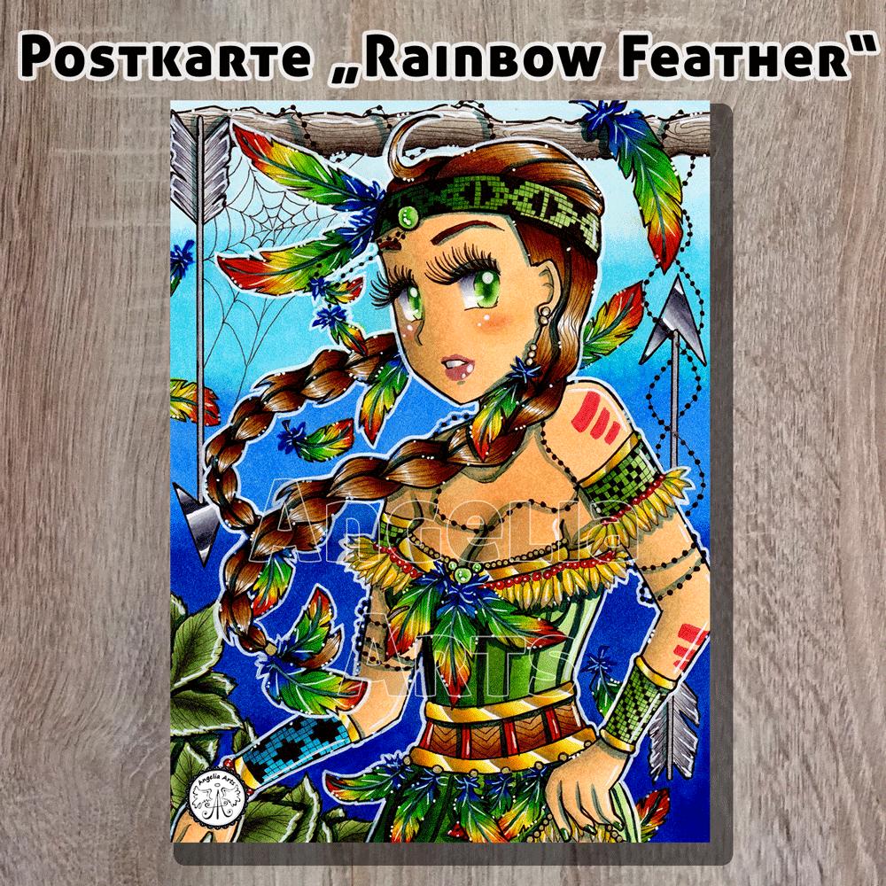 Postkarte_RainbowFeather_1