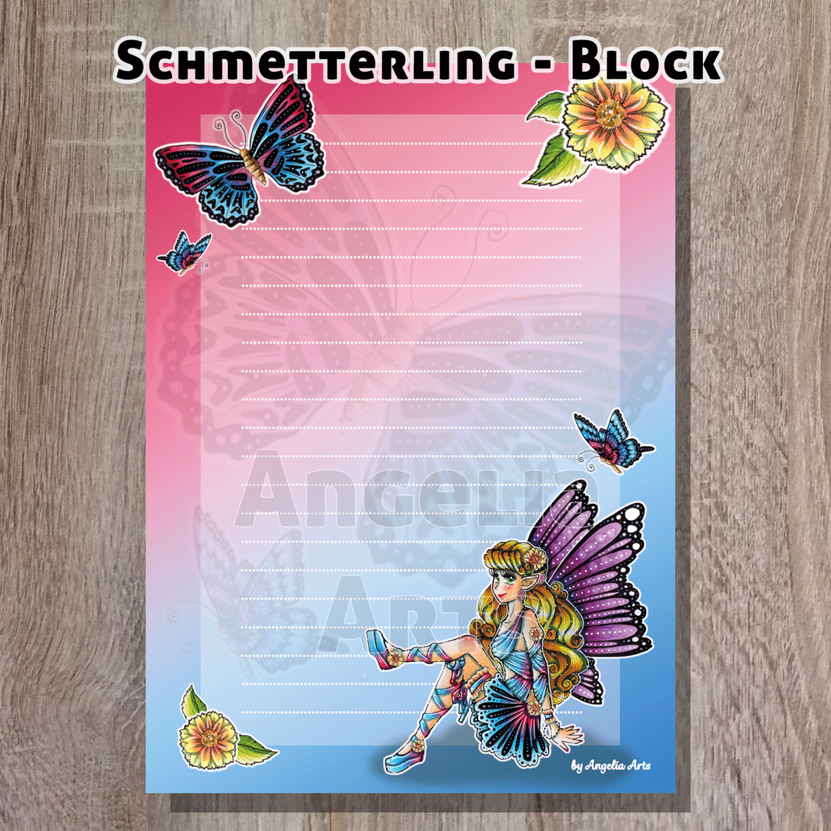 Schmetterling-Block