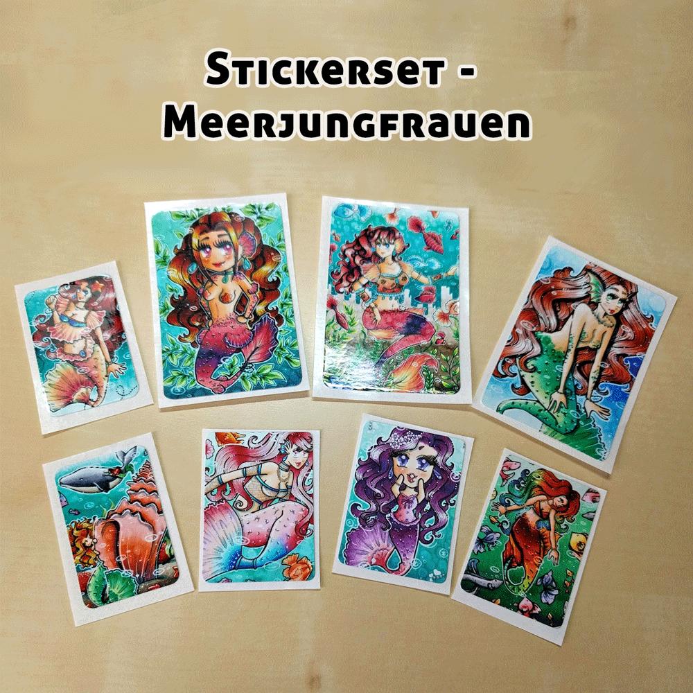 Stickerset-Meerjungfrauen