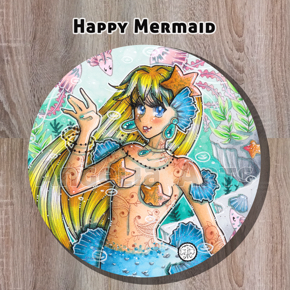 "Soft-Magnet ""Happy Mermaid"""