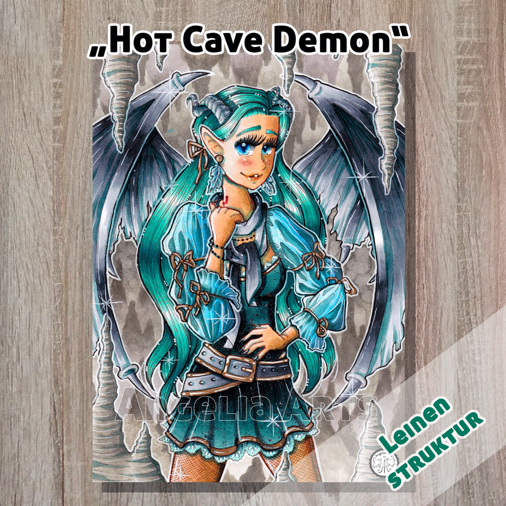 "A4 Poster ""Hot Cave Demon"""
