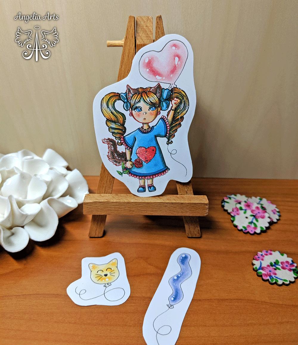 Sticker-Ballon-Girl