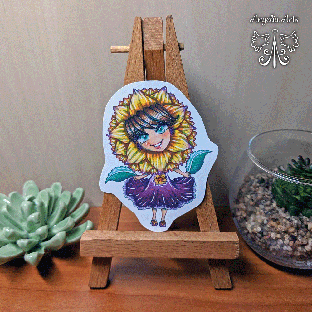 Sticker-flower-girl