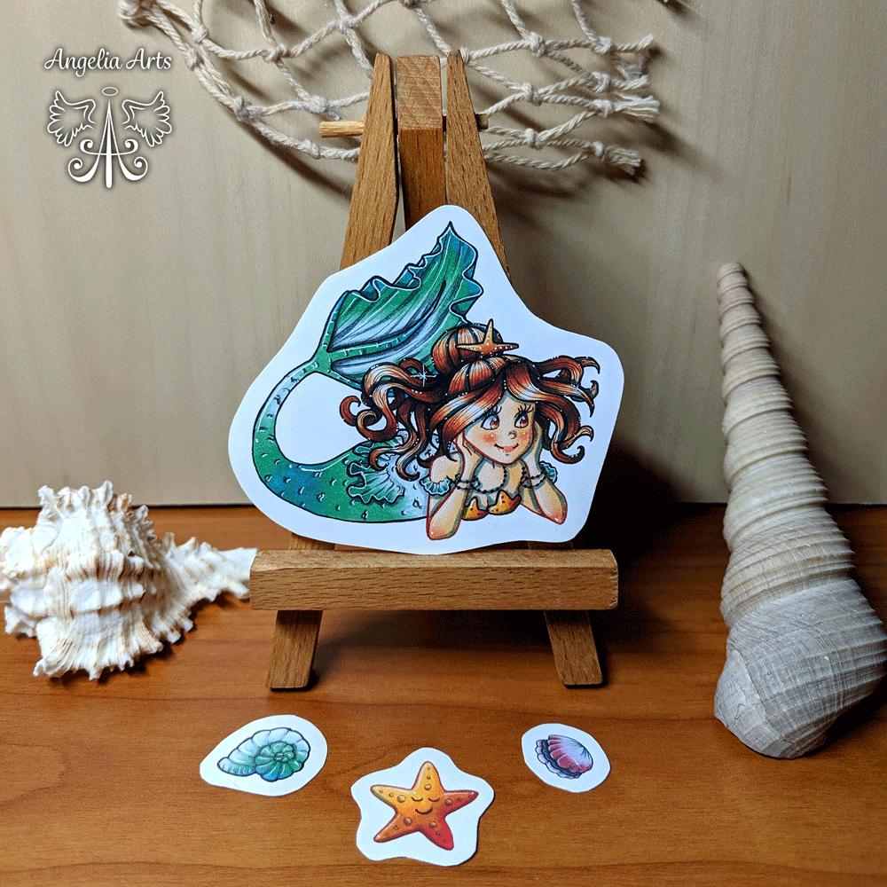 Sticker-mermaid