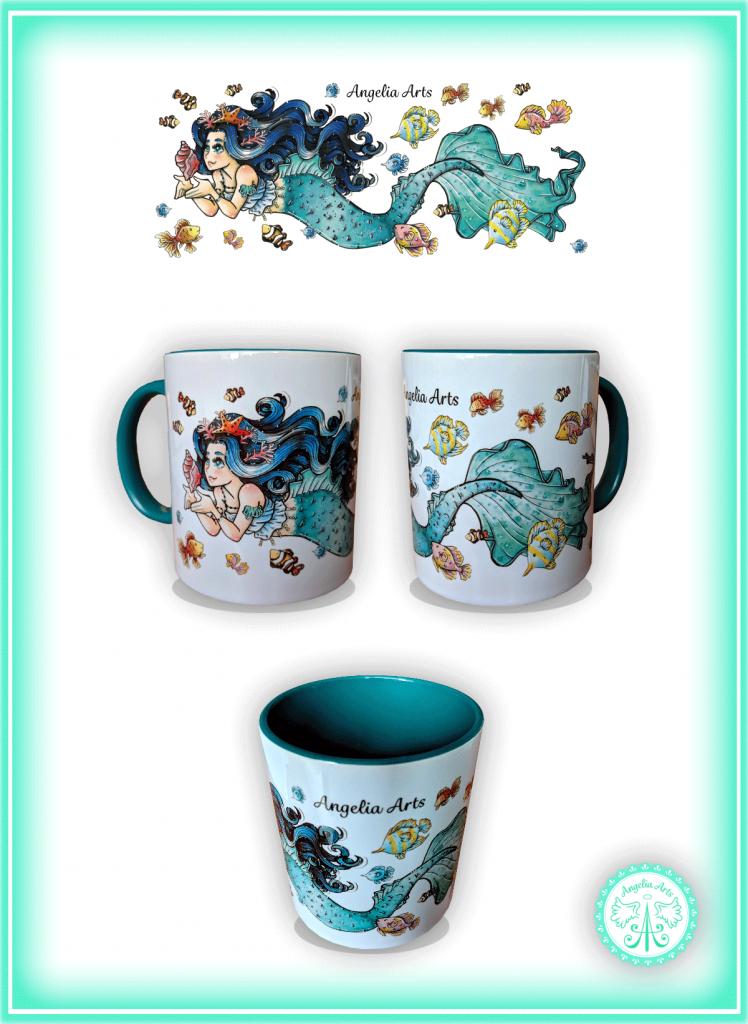 "Keramiktasse ""Mermaid"""