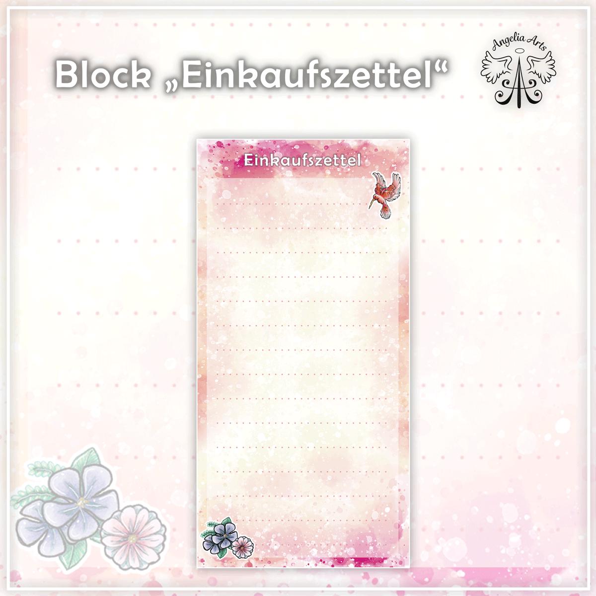 Block-Einkaufszettel