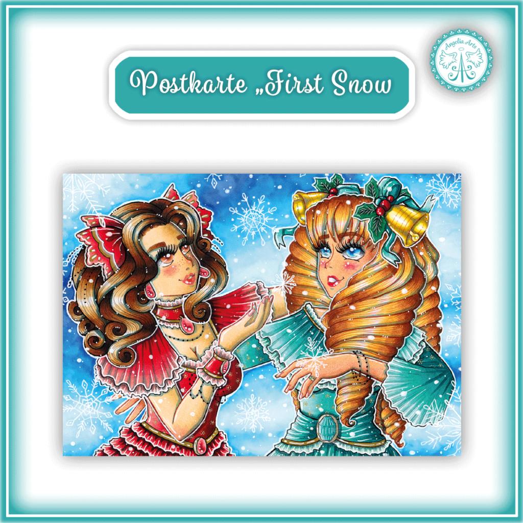 """Postkarte """"First Snow"""""""