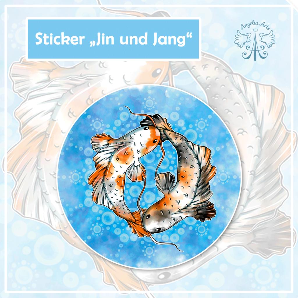 """Sticker """"Jin und Jang"""""""